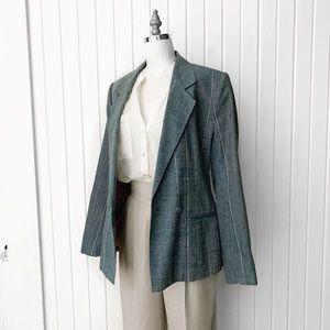 Vintage 1970s Blue Blazer Jacket